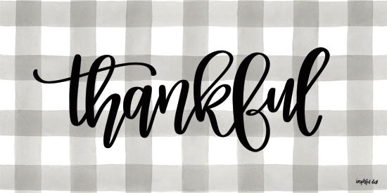 Imperfect Dust DUST250 - Thankful - 18x9 Thankful, Gingham, Plaid, Gray and White, Signs from Penny Lane