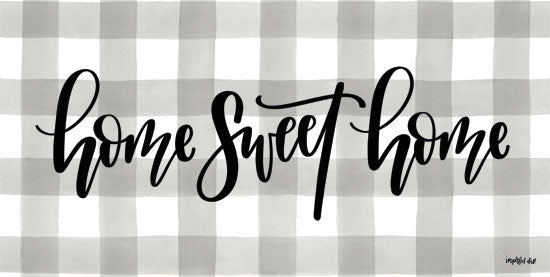 Imperfect Dust DUST251 - Home Sweet Home - 18x9 Home Sweet Home, Gingham, Plaid, Grey and White from Penny Lane