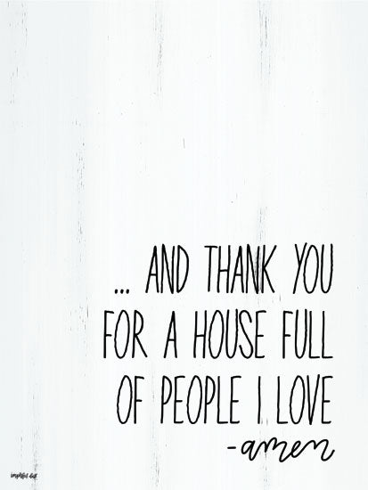 Imperfect Dust DUST253 - People I Love - 12x16 Thank You, House, Family, Prayer, Amen, Signs from Penny Lane