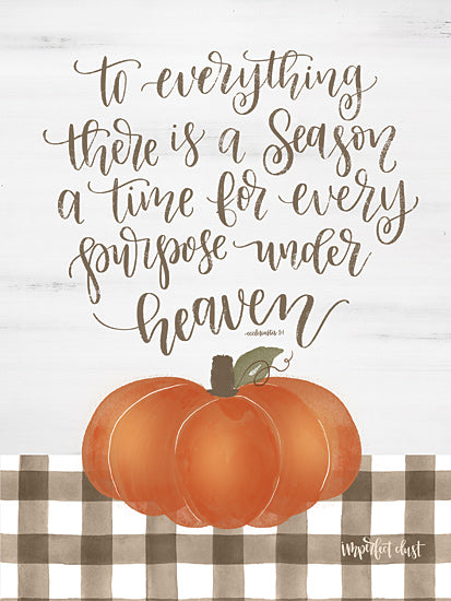 Imperfect Dust DUST374 - DUST374 - There is a Season - 12x16 To Everything There is a Season, Pumpkins, Gingham, Calligraphy, Autumn from Penny Lane