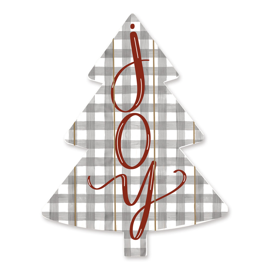 Imperfect Dust DUST394TREE - DUST394TREE - Joy  - 14x18 Signs, Joy, Christmas Tree, Plaid, Typography from Penny Lane
