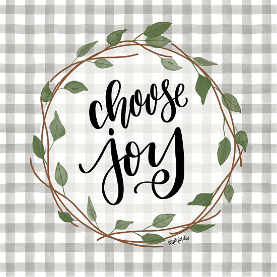 Imperfect Dust DUST417 - DUST417 - Choose Joy - 12x12 Modern, Calligraphy, Choose Joy, Gingham, Wreath from Penny Lane