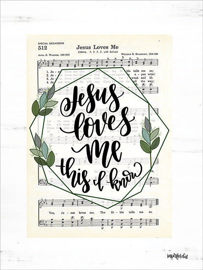 Imperfect Dust DUST443 - DUST443 - Jesus Loves Me - 12x16 Jesus Loves Me, Sheet Music, Song from Penny Lane