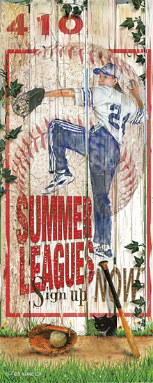Ed Wargo ED373 - Baseball Summer Leagues - Baseball, Fence, Baseball Player, Pitcher from Penny Lane Publishing