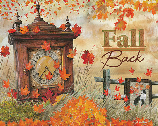 Ed Wargo ED376 - Fall Back - Autumn, Time Change, Clock, Leaves from Penny Lane Publishing