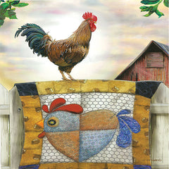 ED388 - Rooster and Quilt