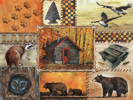 Ed Wargo ED391 - The Great Outdoors II Outdoors, Bears, Owl, Log Cabin, Tacklebox, Geese, Icons from Penny Lane