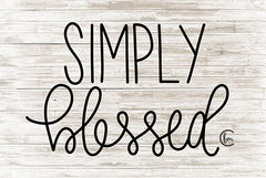 FMC124 - Simply Blessed     - 18x12