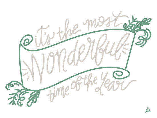 Erin Barrett FTL162 - FTL162 - It's the Most Wonderful Time of the Year   - 12x16 Signs, Christmas, Songs, Typography from Penny Lane