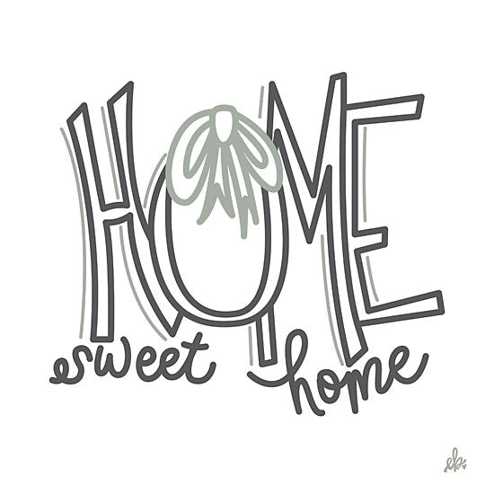 Erin Barrett FTL214 - FTL214 - Home Sweet Home    - 12x12 Home Sweet Home, Signs, Calligraphy, Wreath from Penny Lane