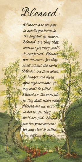 Gail Eads GE118 - Blessed Bless are the Poor, Bible Verse, Trees, Blessed from Penny Lane