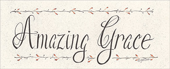 Gail Eads GE316 - Amazing Grace Amazing Grace, Calligraphy, Signs, Berries from Penny Lane