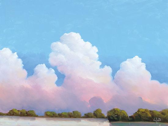 William Hawkins HAWK107 - River & Sky Meet The Clouds - 16x12 River, Sky, Clouds, Trees, Reflection, Landscape from Penny Lane