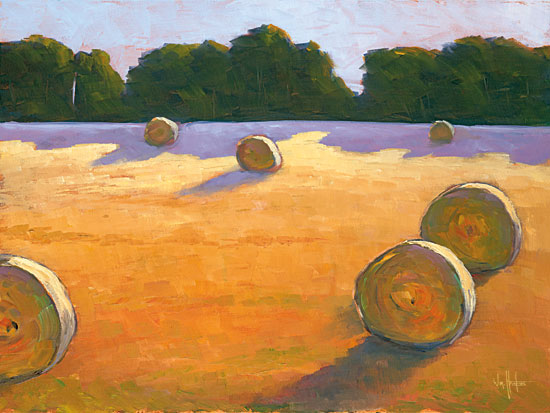 William Hawkins HAWK109 - While The Hay Shines - 16x12 Hay, Hay Bales, Field, Pasture, Autumn, Farm from Penny Lane