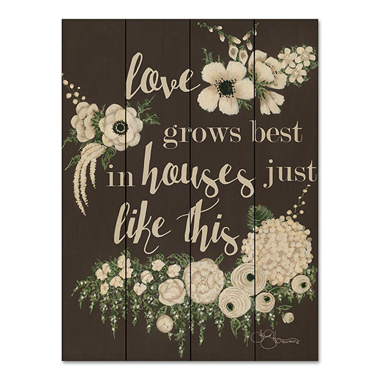 Hollihocks Art HH105PAL - Love Grows Love Grows, House, Family, Flowers, White Flowers, Blooms from Penny Lane