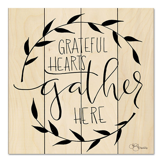 Hollihocks Art HH111PAL - Grateful Hearts Gather Here Grateful Hearts, Gather Here, Wreath, Gather, Calligraphy from Penny Lane