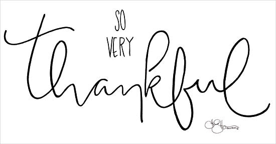 Hollihocks Art HH113 - So Very Thankful - 18x9 Thankful, Calligraphy, Signs, Black & White from Penny Lane