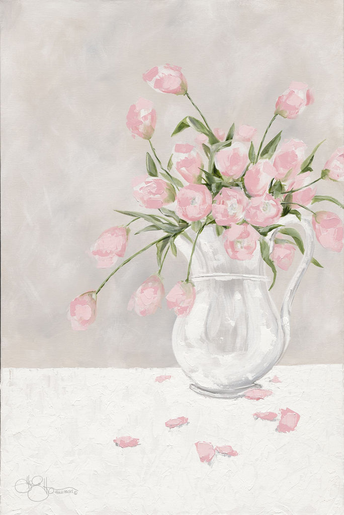 Hollihocks Art HH140 - HH140 - Pink Tulips - 12x18 Tulips, Flowers, Pink Tulips, Vase from Penny Lane