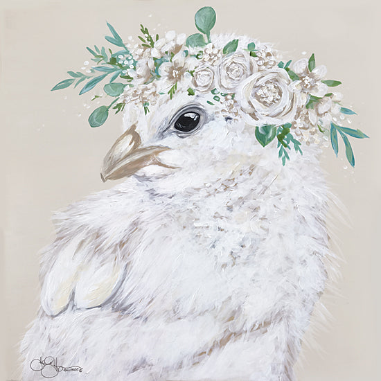 Hollihocks Art HH153 - HH153 - Joy the Chick - 12x12 Portrait, Floral, Botanical, Chicken, Farm Animals from Penny Lane