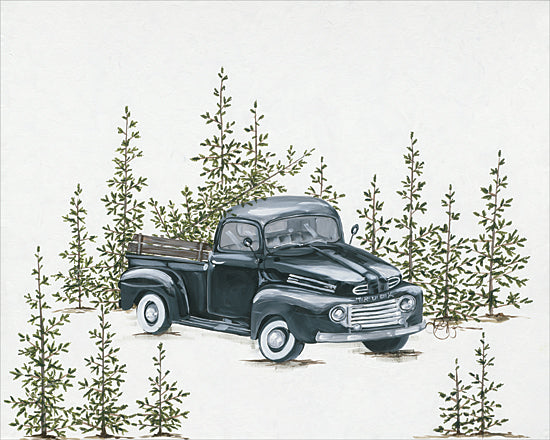 Hollihocks Art HH157 - HH157 - Christmas Tree Shopping - 16x12 Holiday, Christmas, Nostalgia, Vintage, Rustic, Truck from Penny Lane