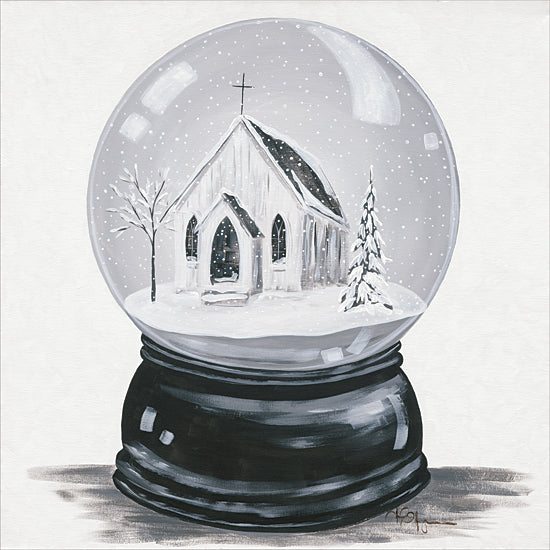 Hollihocks Art HH158 - HH158 - Silent Night - 12x12 Holiday, Christmas, Rustic, Snow Globe, Church, Winter from Penny Lane