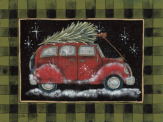 Lisa Hilliker HILL678 - Ready for Christmas - Car, Christmas Tree, Plaid, Snow from Penny Lane Publishing