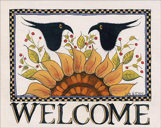 Lisa Hilliker HILL680 - Sunny Welcome Sunflower, Crows, Welcome, Checkerboard, Signs from Penny Lane