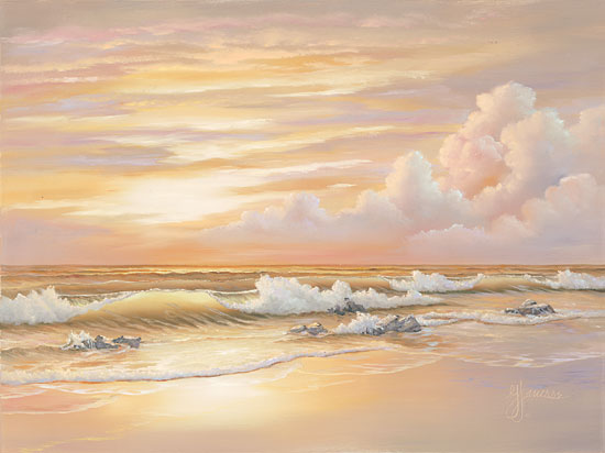 Georgia Janisse JAN241 - Bright Sunset with Dunes - Coast, Shore, Coastline, Sand, Beach, Clouds from Penny Lane Publishing
