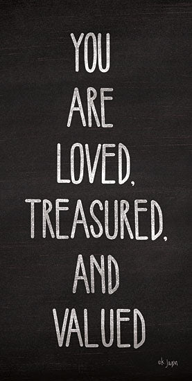 Jaxn Blvd. JAXN173 - You Are Loved, Treasured and Valued Love, Treasure, Value, Black & White, Signs from Penny Lane