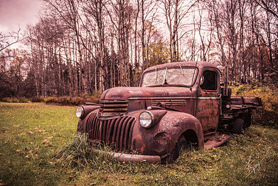Justin Spivey JDS205 - Silently Resting - Truck, Rusty, Antiques, Field from Penny Lane Publishing