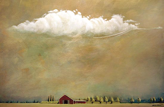 JG Studios JGS220 - JGS220 - Summer South of 27    - 18x12 Abstract, House, Homestead, Trees, Cloud from Penny Lane