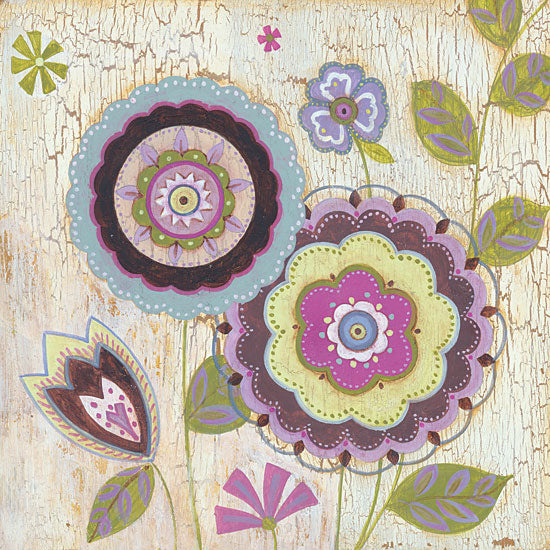 JG Studios JGS234 - JGS234 - Tribeca I - 12x12 Flowers, Wood Background, Abstract from Penny Lane