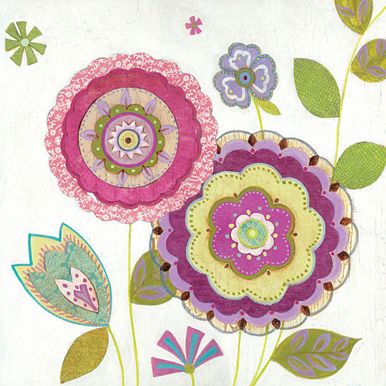 JG Studios JGS237 - JGS237 - Tribeca IV - 12x12 Flowers, Wood Background, Abstract from Penny Lane