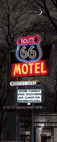 JG Studios JGS250 - JGS250 - Route 66 Motel - 8x20 Route 66, Motel, Neon, Nostalgia, Color Isolation from Penny Lane