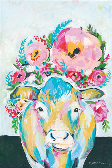 Jessica Mingo JM100 - Bloom Abstract, Cow, Flowers, Imaginary from Penny Lane