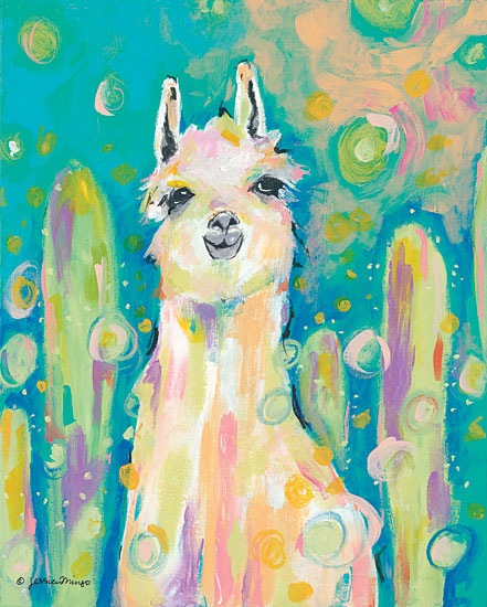 Jessica Mingo JM101 - Afternoon in the Cactus Garden Abstract, Llama, Cactus, Garden from Penny Lane