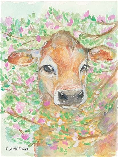 Jessica Mingo JM111 - Baby Blossom Cow, Calf, Flowers, Pink Flowers, Babies from Penny Lane