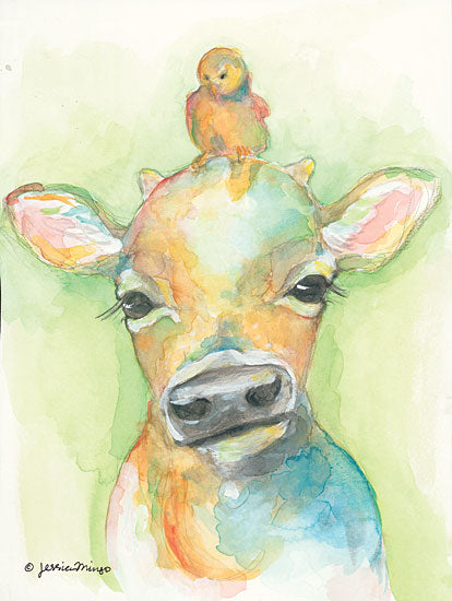 Jessica Mingo JM112 - Youngsters Cow, Calf, Chick, Baby Chick, Abstract from Penny Lane