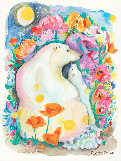 Jessica Mingo JM115 - A Mother's Love Polar Bears, Mother, Baby, Flowers, Love from Penny Lane
