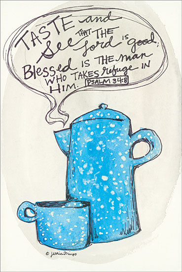 Jessica Mingo JM138 - Taste and See Taste and See, Coffee, Coffee Pot, Vintage from Penny Lane