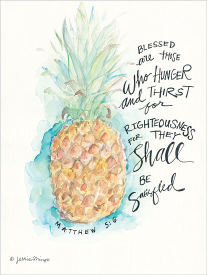 Jessica Mingo JM144 - Blessed Pineapple Pineapple, Bible Verse, Matthew, Blessed, Abstract from Penny Lane
