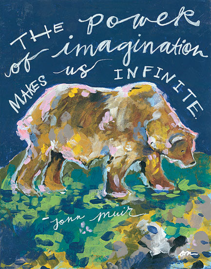 Jessica Mingo JM145 - Power of Imagination Bear, Abstract, Imagination, Wildlife from Penny Lane