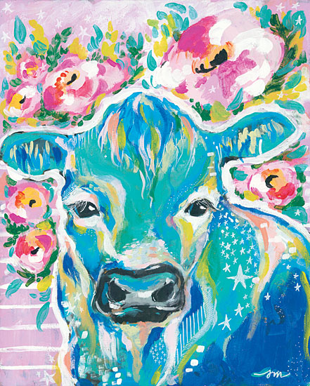 Jessica Mingo JM149 - My Cow Star Cow, Abstract, Flowers from Penny Lane