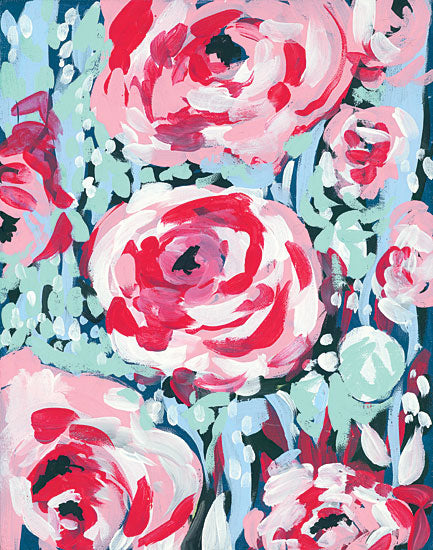 Jessica Mingo JM184 - Chorus of the Rose - 12x16 Abstract, Roses, Triptych from Penny Lane