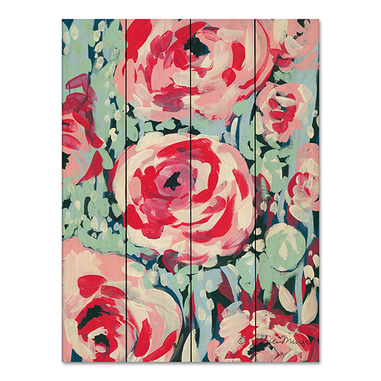 Jessica Mingo JM184PAL - Chorus of the Rose Abstract, Roses, Triptych from Penny Lane