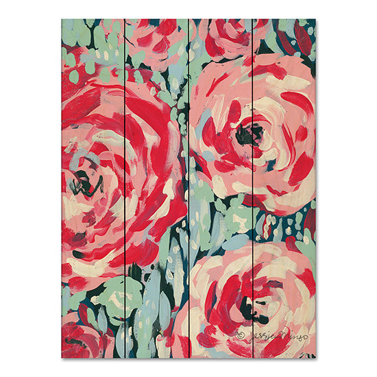 Jessica Mingo JM185PAL - Rose Abstract, Roses, Triptych from Penny Lane