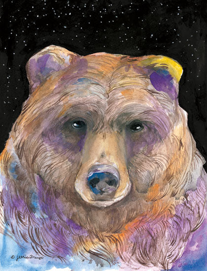 Jessica Mingo JM218 - JM218 - Galaxy Bear - 12x16 Bear, Galaxy, Portrait, Brown Bear, Nighttime from Penny Lane