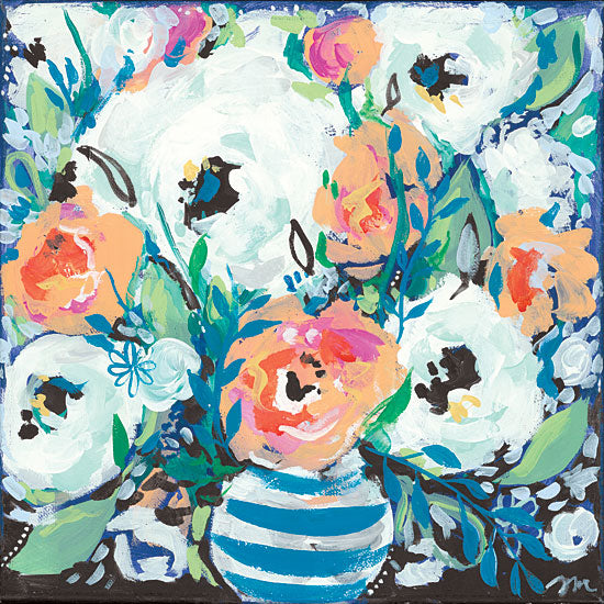Jessica Mingo JM227 - JM227 - Fancy Florals I - 12x12 Flowers, Abstract, Vase, Contemporary from Penny Lane