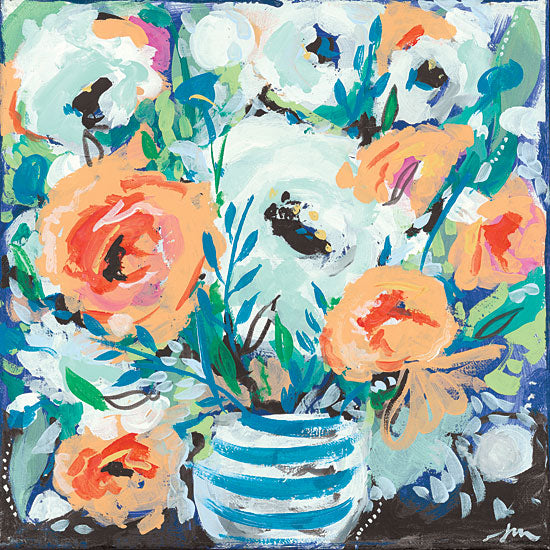 Jessica Mingo JM228 - JM228 - Fancy Florals II - 12x12 Flowers, Abstract, Vase, Contemporary from Penny Lane