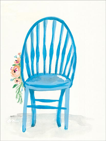 Jessica Mingo JM234 - JM234 - Floral Chair II - 12x16 Chair, Flowers from Penny Lane